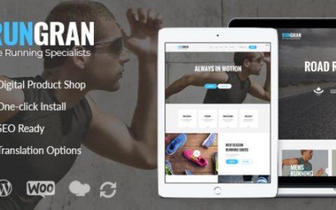 Run Gran v1.1  - 运动服装和齿轮店WordPress主题