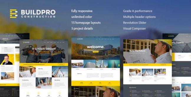 BuildPro  - 商业,建筑和施工WordPress主题