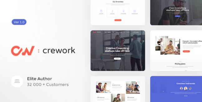 Crework | Coworking和创意空间WordPress主题