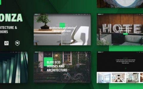 Bonza v1.2.0  - 建筑与室内WordPress主题