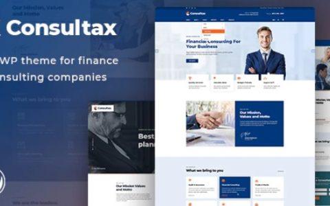 Consultax v1.0.3  - 财务与咨询WordPress主题