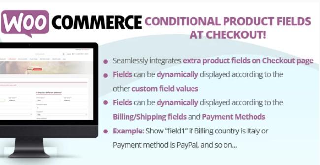 Checkout上的WooCommerce有条件产品字段