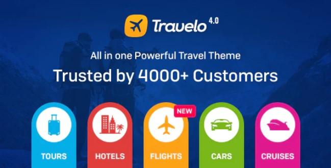 Travelo  - 旅行/旅游预订响应WordPress主题