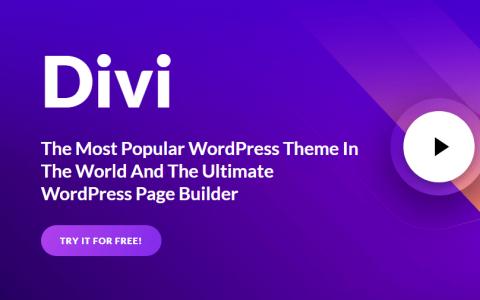 Divi v3.26.7  - 最受欢迎的WordPress主题