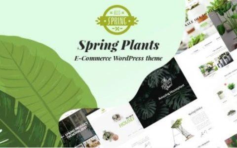 Spring Plants v2.1  - 园艺和室内植物WordPress主题