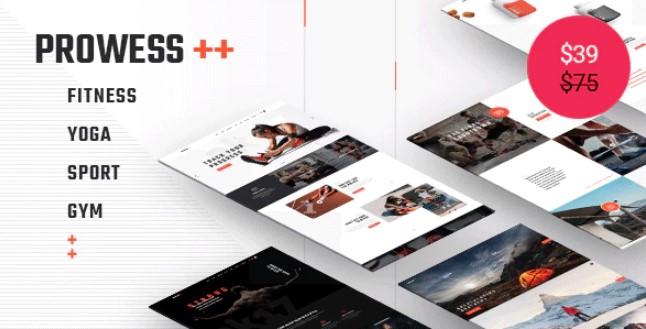 英勇 - 健身和健身房WordPress主题