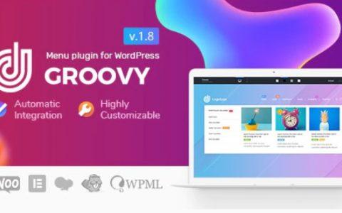 Groovy v1.8.4  - 适用于WordPress的响应式Mega菜单插件