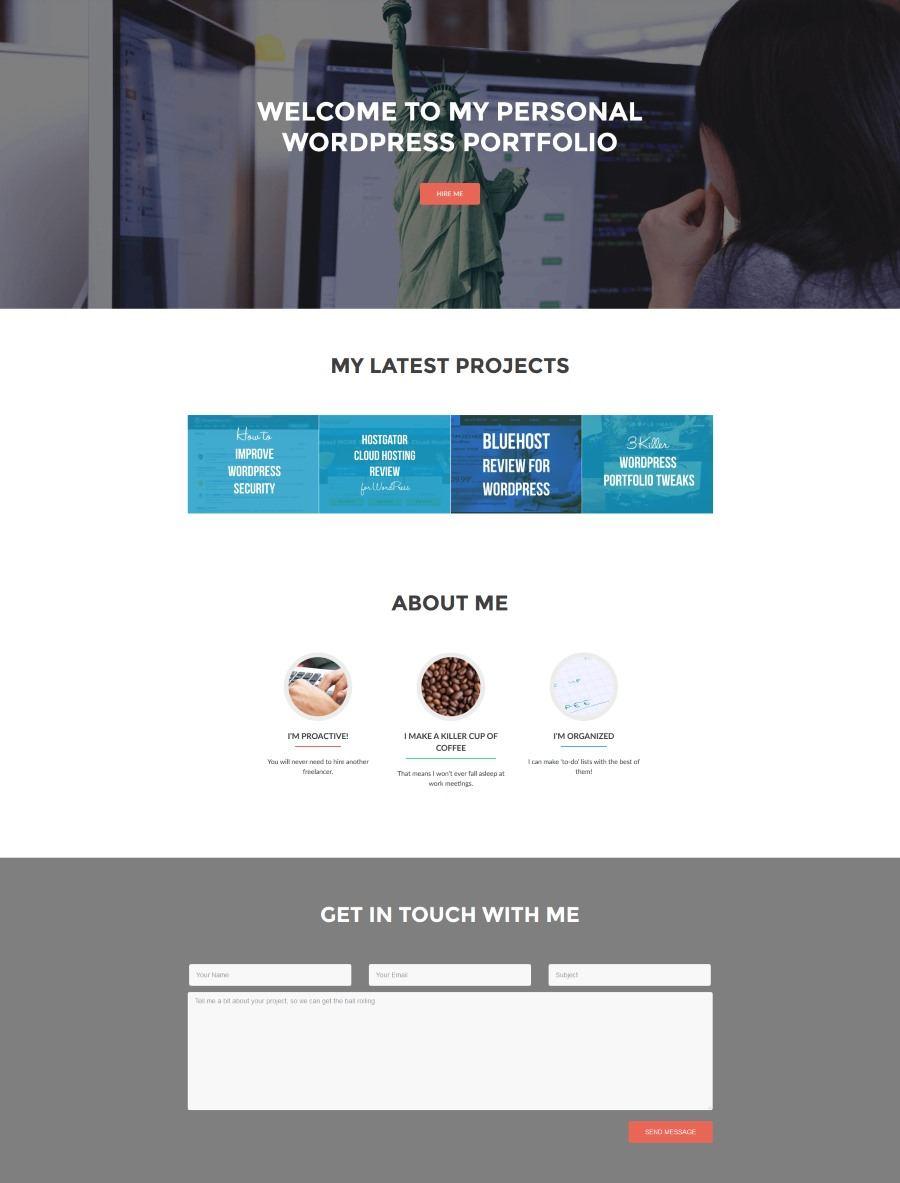 WordPress上的投资组合网站