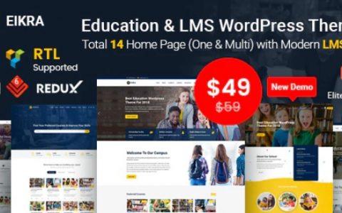 Eikra v3.8  - 响应式教育WordPress主题