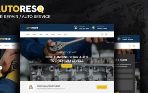 Autoresq v2.1.3  - 汽车修理和汽车修理工WordPress主题