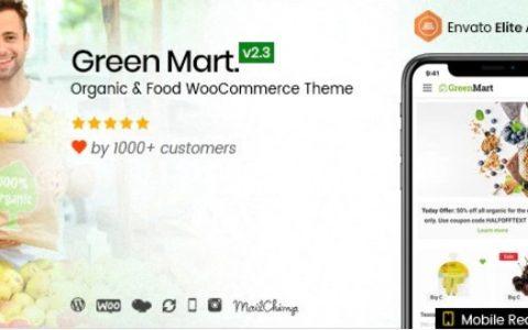 GreenMart v2.3.5  - 有机和食品WooCommerce WordPress主题