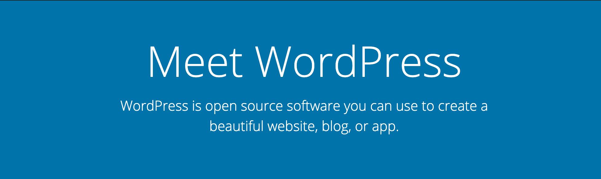 WordPress主页。