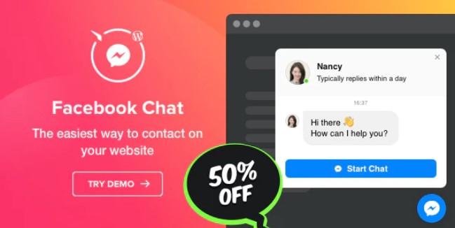 Facebook聊天 -  WordPress Facebook Messenger