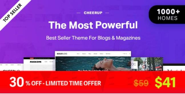 CheerUp  - 博客/杂志和旅行WordPress