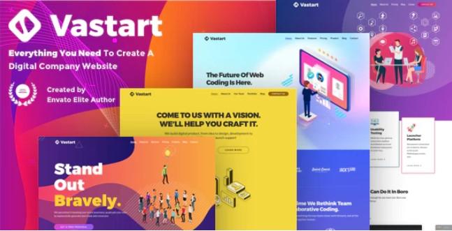 Vastart  - 数字公司和启动WordPress主题