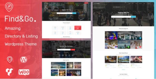 Findgo  - 目录和列表WordPress主题