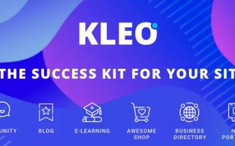 KLEO v4.9.12  - 专业社区,多用途BuddyPress主题