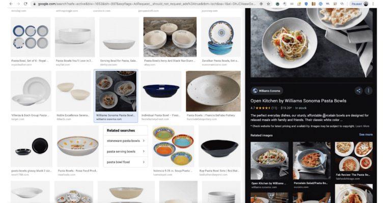 Google在桌面上大修图片搜索结果