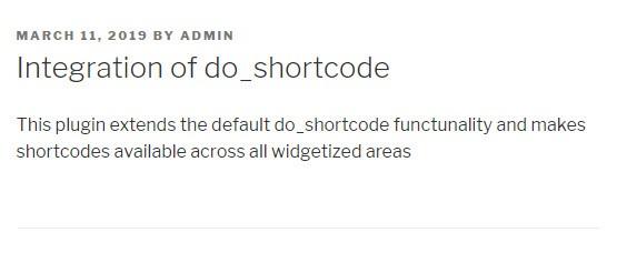 do_shortcode的集成