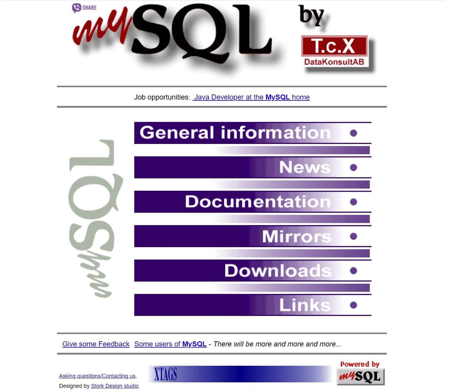 MariaDB vs MySQL:MySQL-old-page