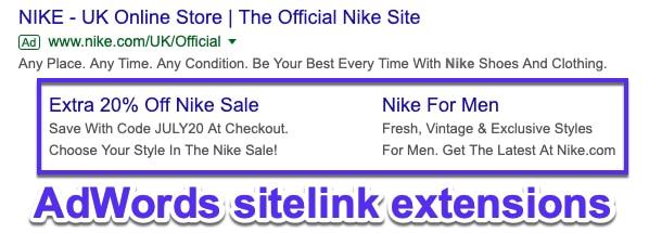 Google AdWords附加链接