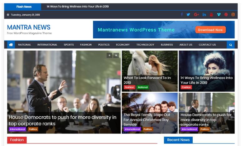 mantranews  -  WordPress的主題