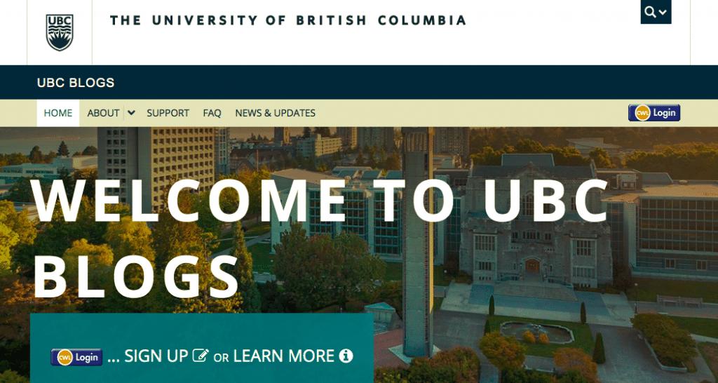 UBC博客