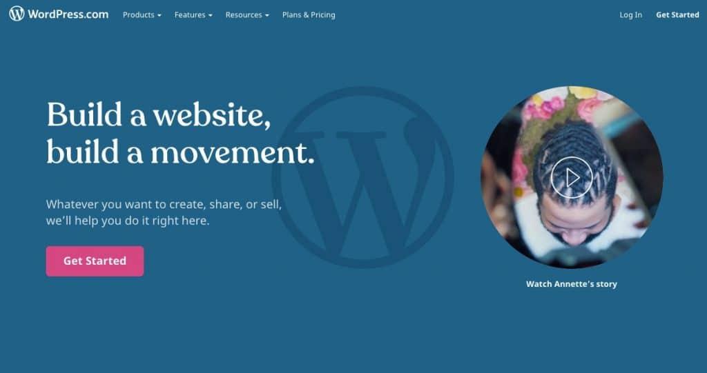 WordPress.com注册页面