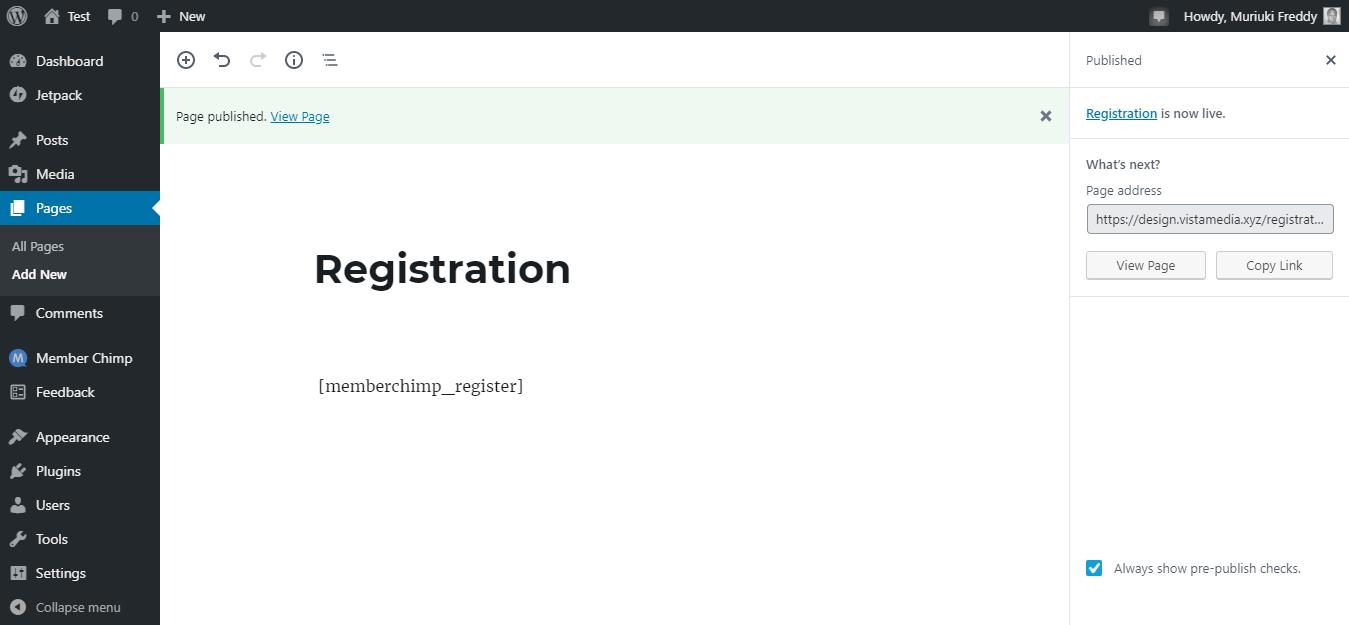新成员黑猩猩注册页面