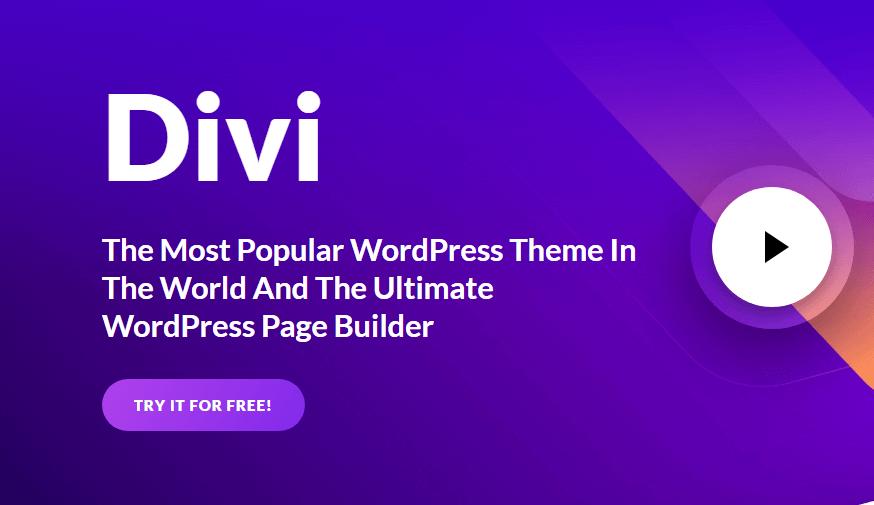 Divi  - 最受欢迎的WordPress主题