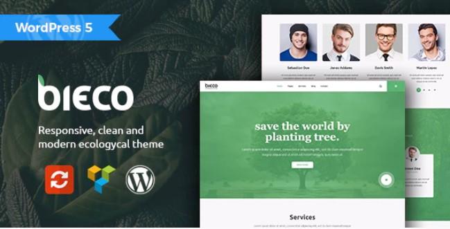 Bieco  - 环境与生态WordPress主题
