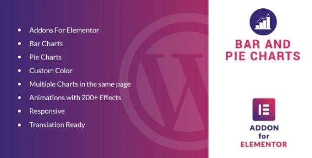 Elementor WordPress插件的条形图和饼图