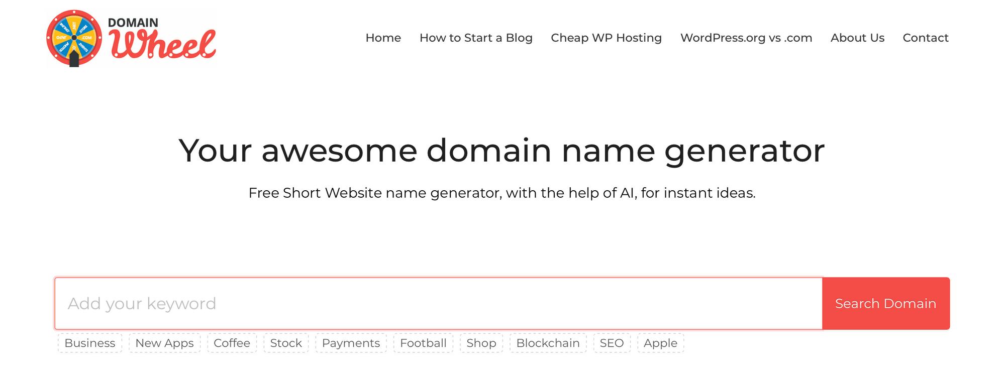 Domain Wheel网站。