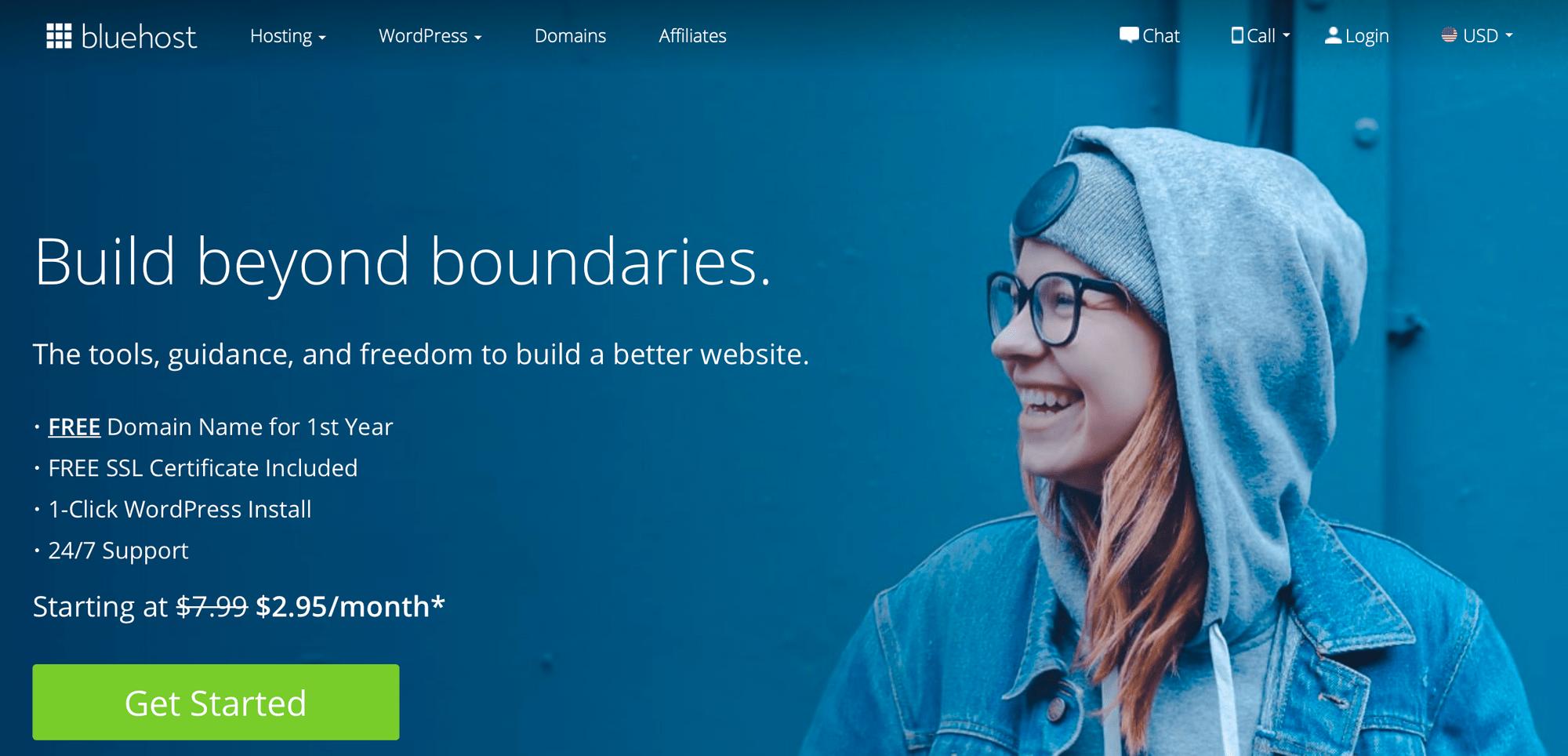 Bluehost将帮助您免费注册域名