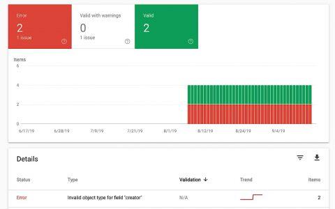 Google Search Console添加了一種新型結構化數據報告