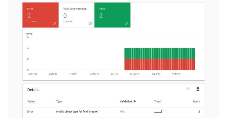 Google Search Console添加了一种新型结构化数据报告