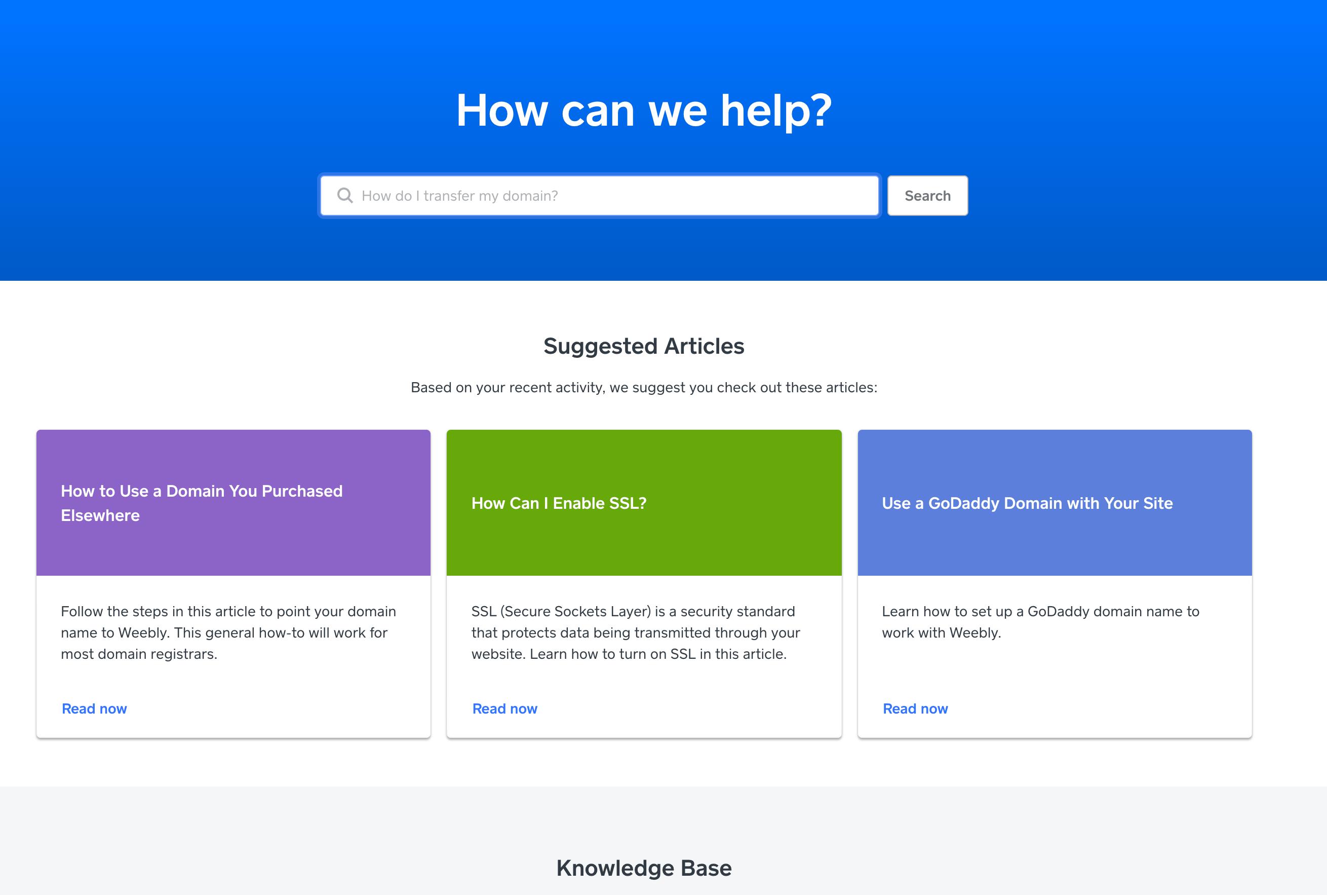 Weebly支持主页