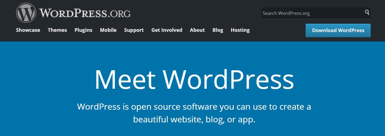 WordPress.org主页。