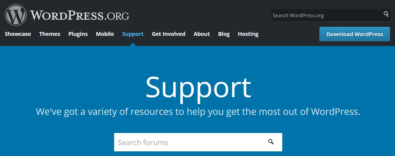 官方WordPress支持论坛。