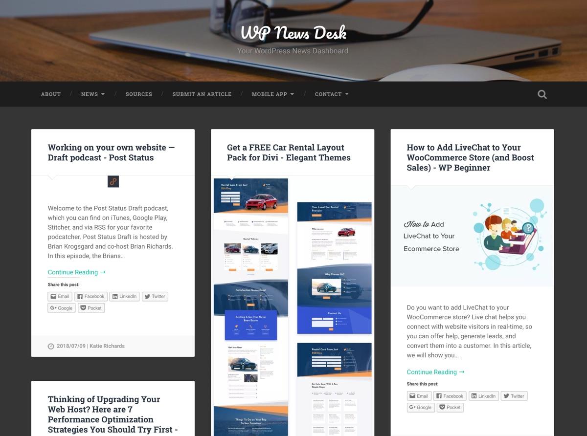 WP RSS聚合器:WPNewsDesk