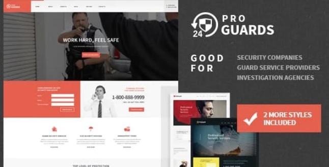 ProGuards-安全身体防护和安全WordPress主题