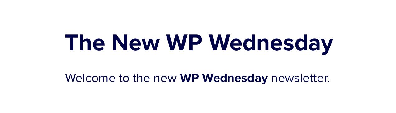WP星期三通讯横幅。