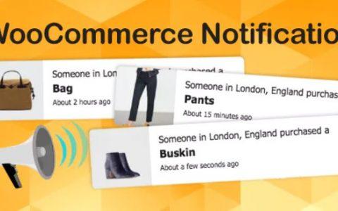 WooCommerce Notification v1.4.1 –促进销售的WordPress插件