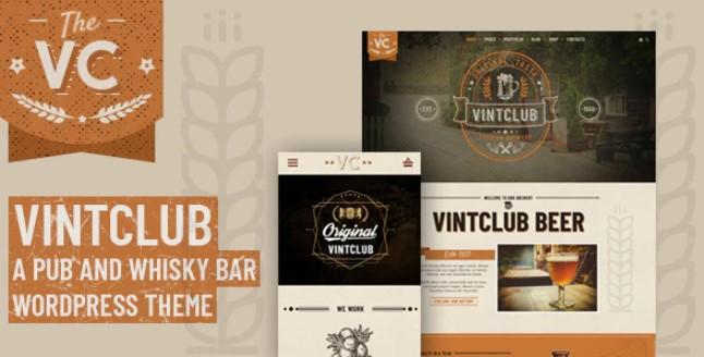 VintClub-酒吧和威士忌酒吧WordPress主题