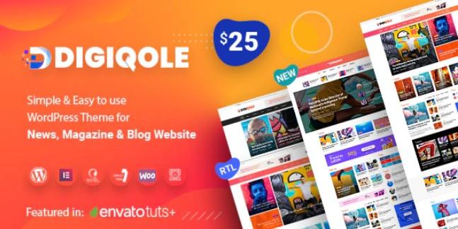 Digiqole-新闻杂志WordPress主题