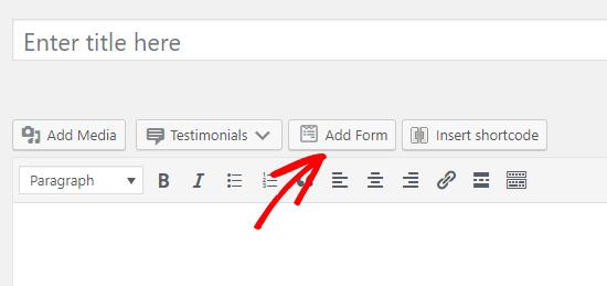 wpforms添加表单按钮