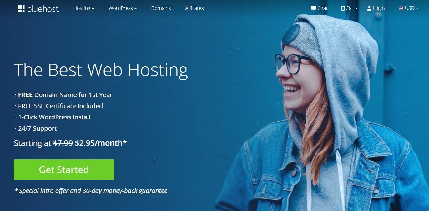 Bluehost提供便宜的无限制托管计划
