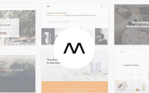 Mora v1.3 –创意组合和摄影WordPress主题
