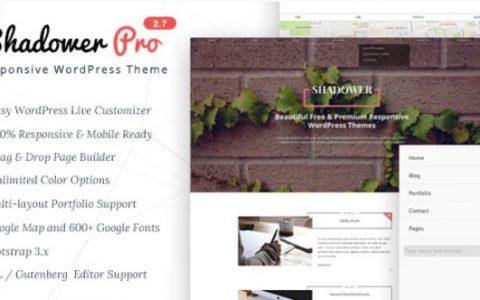 Shadower Pro v2.7 –适用于Blogger的自适应WordPress主题
