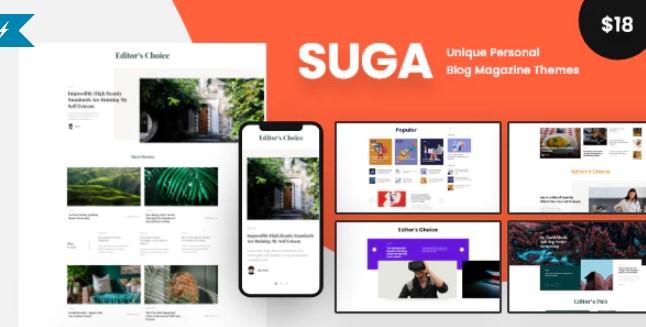 Suga-杂志和博客WordPress主题